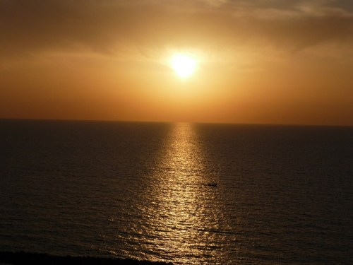 Glorious sunset over the Mediterranean.