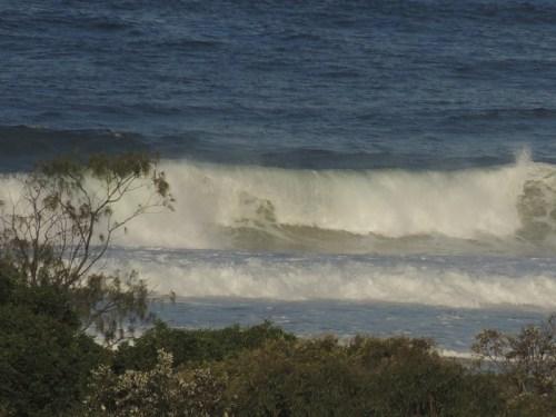 Rolling ocean waves.