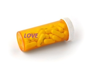One of many pill bottles
