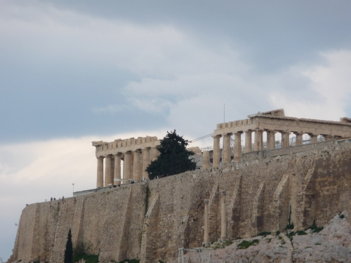 View of the Acropolis from outside the hotel