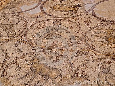 Old Roman Mosaic Floor, Caesarea