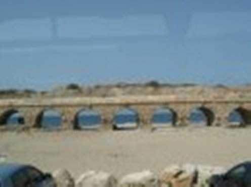 Roman Aqueduct and the Mediterranean, Caesarea