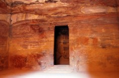Inside the Treasury built as the tomb of Nabataean King Aretas 111