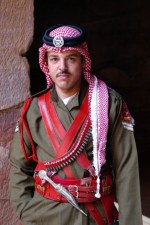 Jordanian guard at the Treasury
