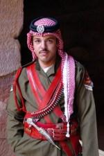 Jordanian guard at the Treasury