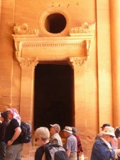 Inside the Treasury, going into Aaron's Tomb